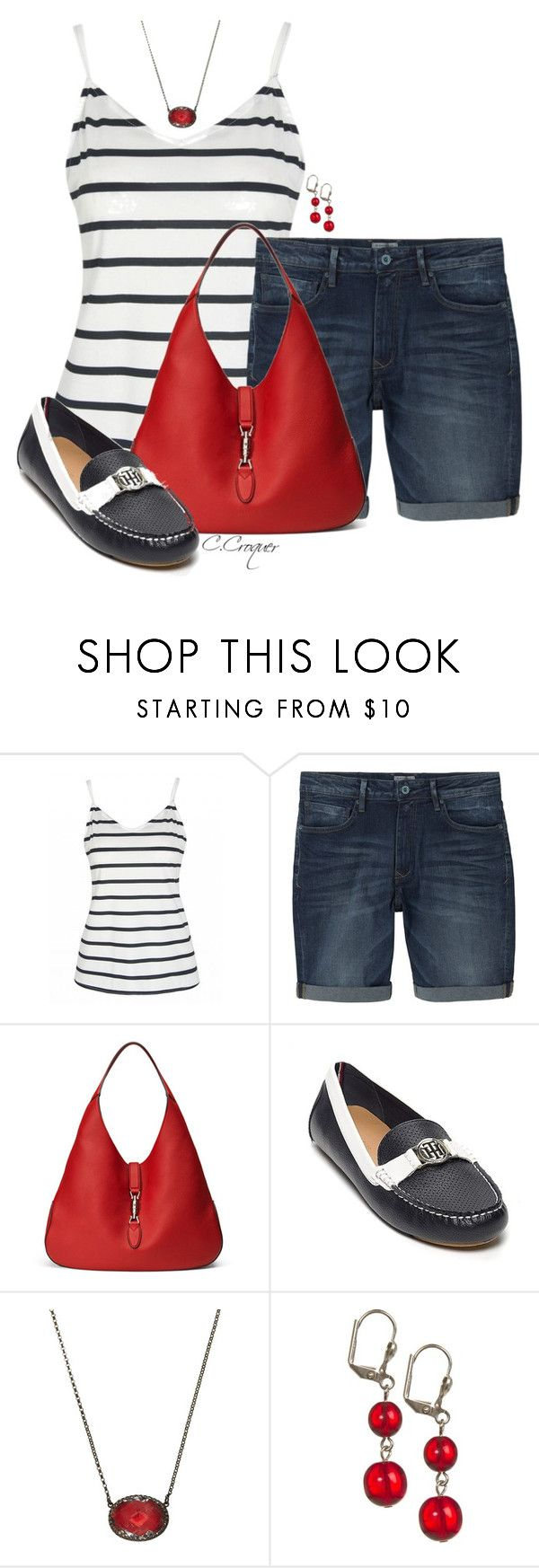 """""""Loafers For Summer"""" by ccroquer ❤ liked on Polyvore featuring MANGO MAN, Gucci, Tommy Hilfiger and Larkspur & Hawk"""