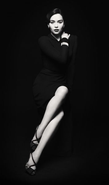 Emilia Clarke - Photography - Sophisticated and sexy, this black and white
