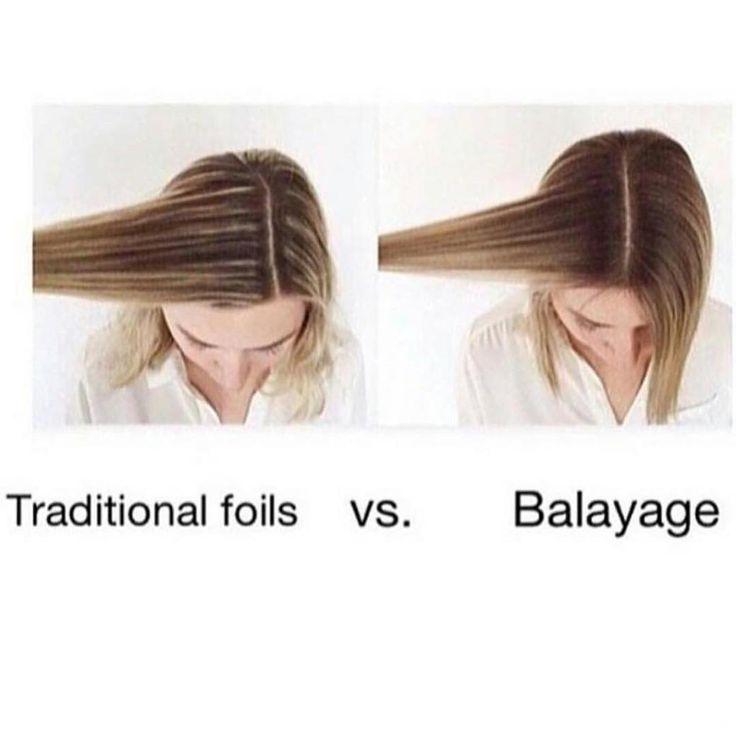 Foil vs Balayage Highlights