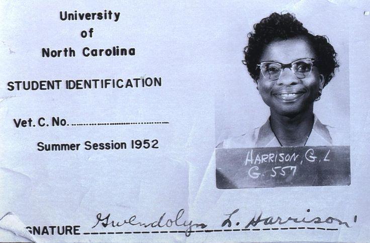 Spelman alum & Johnson C Smith professor, Gwendolyn Harrison Smith, was the first black woman to attend UNC-Chapel Hill