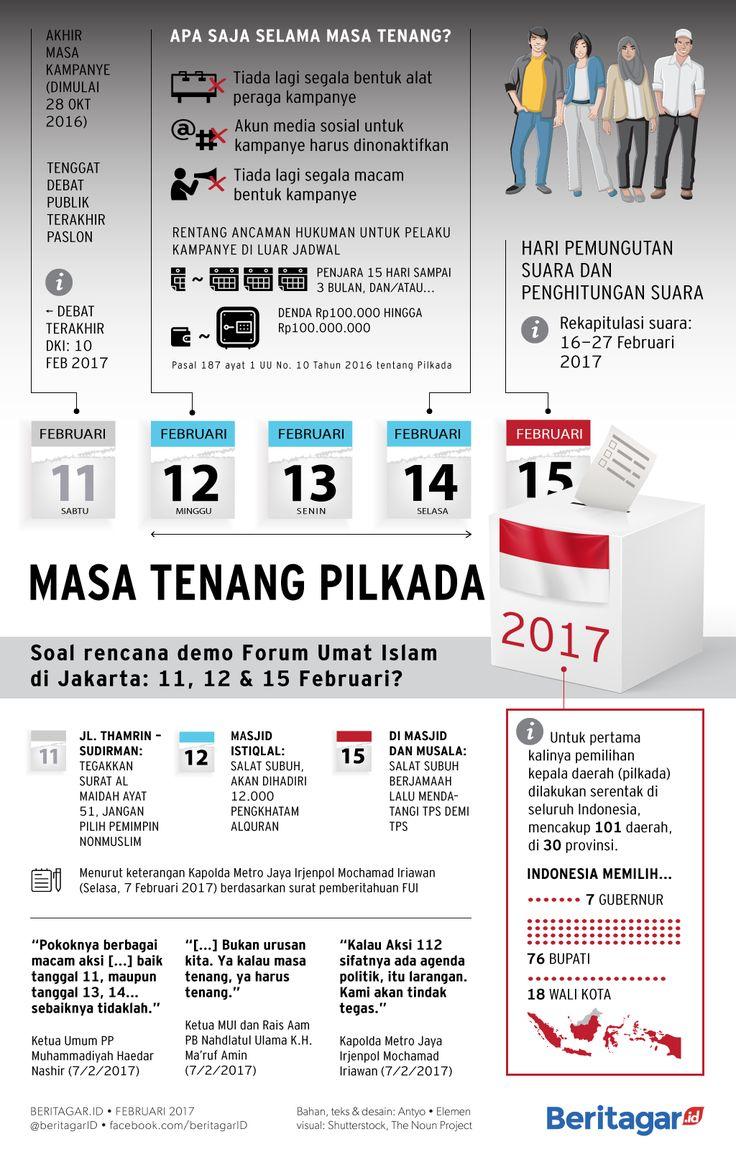 STTTT, TENANG YA | Sesuai namanya, masa tenang diharapkan akan meredam kegaduhan politik selama rangkaian Pilkada 2017, terutama di Jakarta.