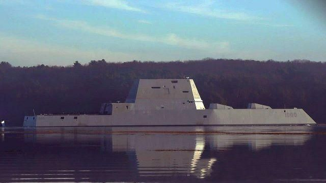 Navy's largest destroyer heads out to sea