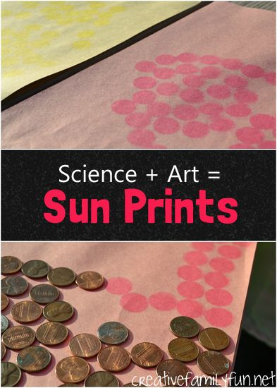 Art + Science: Sun Prints to demonstrate how powerful the suns rays are.