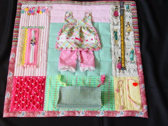 Busy Seamstress Fidget Quilt Sensory Activity Quilt