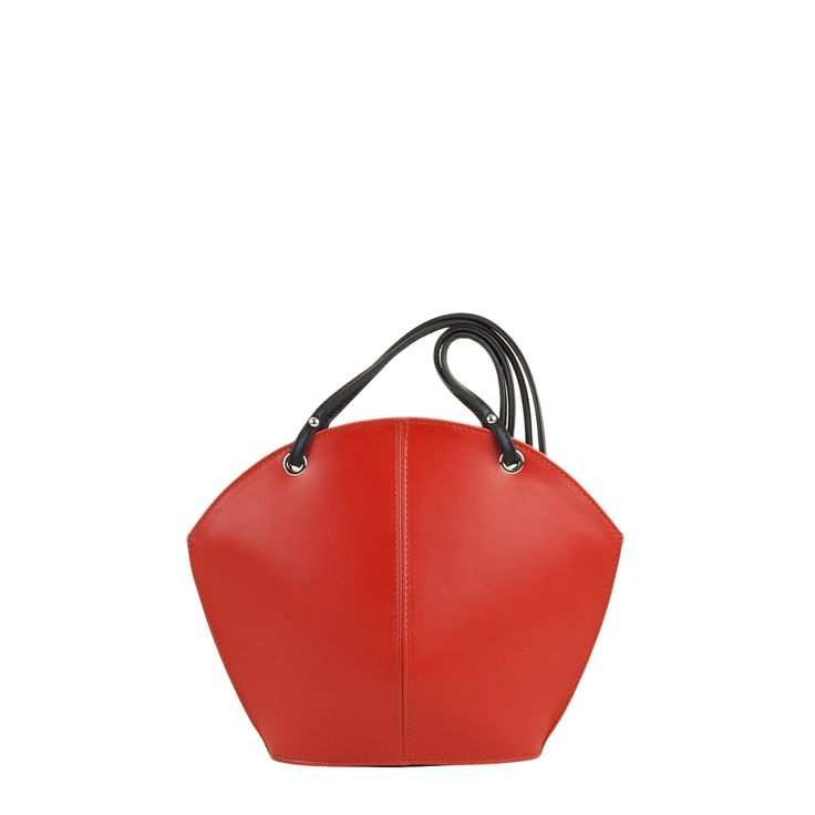 Ava leather shoulder - evening bag