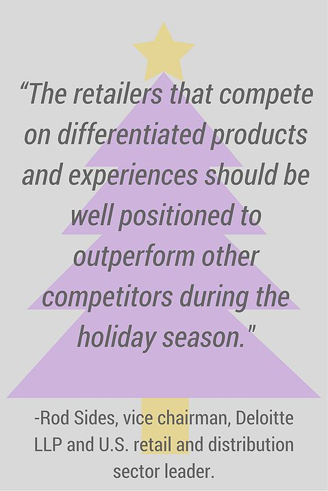 """Interesting excerpt from """"How to make sure you stand out from competitors this Holiday"""", quote from Rod Sides, Leader of Retail and Distribution at Deloitte US."""