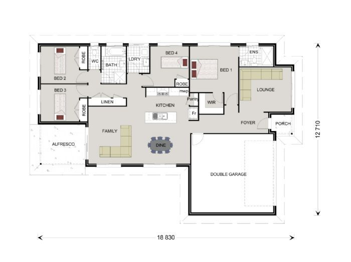 Woodridge 194, Home Designs in Brisbane North & Bayside   G.J. Gardner Homes