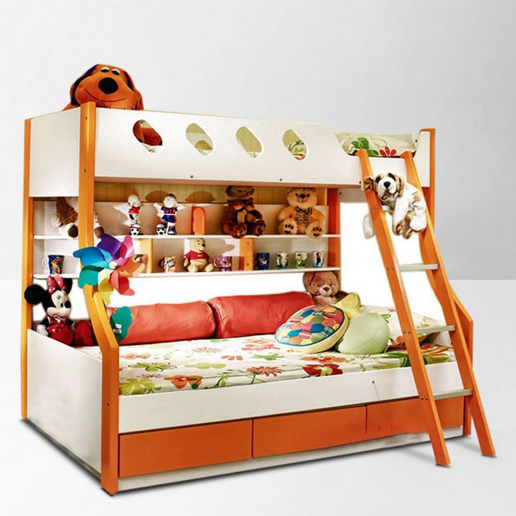 HomeTown Deccan Bunk Bed Orange And White - Buy  Online in India | Fabfurnish.com [HO340FU23OSIINDFUR]