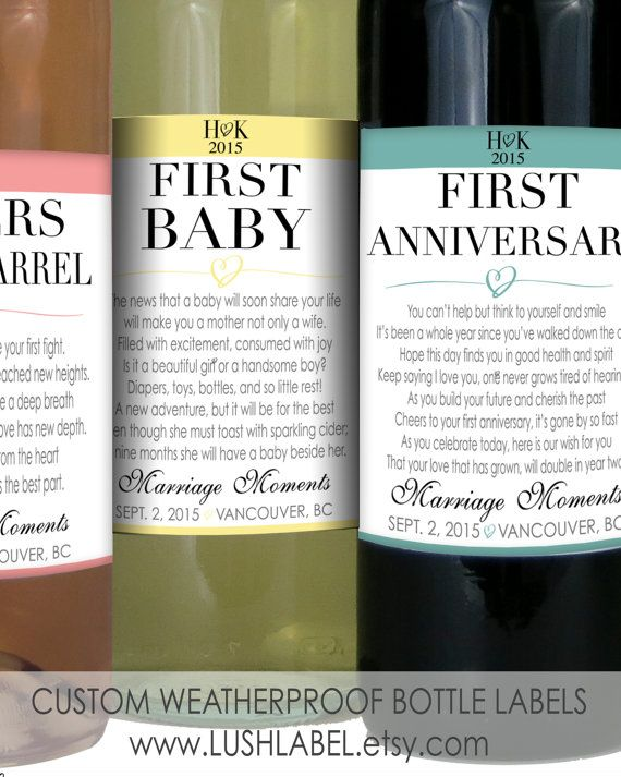Wedding Gift Wine Bottle Poems : ... wedding gift bridal shower gift wine poems first anniversary item