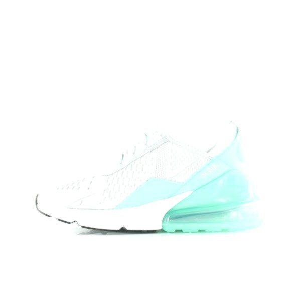 Nike Air Max 270 Gs Pure Platinumblanc Emerald Rise In 2020 Nike Air Max Nike Air Nike
