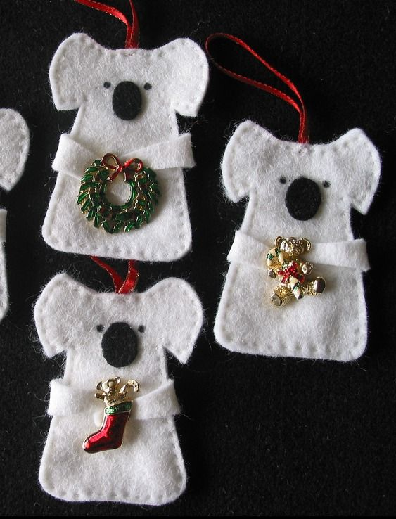 Look at these gorgeous things. Kids could just glue the pieces together, rather than sew.