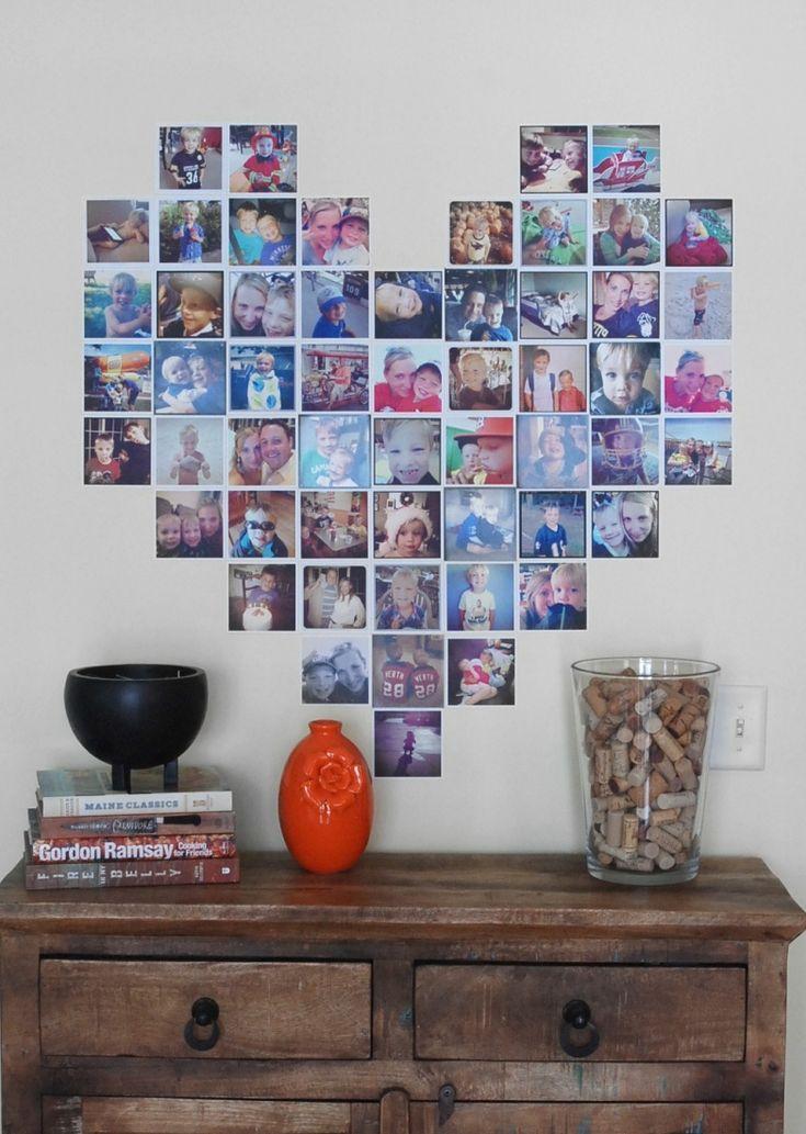 best 25 heart shaped photo collage ideas on pinterest. Black Bedroom Furniture Sets. Home Design Ideas
