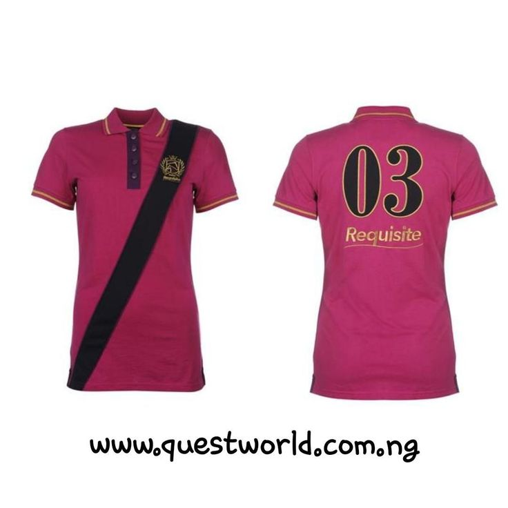 Requisite Sash Polo Shirt Ladies pink  size 10 12 14 #9500 Free Nationwide Delivery  Enter QWFREEDELIVERY for orders over #25000 for orders outside lagos www.questworld.com.ng www.konga.com/QUEST-WORLD-BOUTIQUE 📲08025462685 .