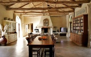 South African Farmhouse - mediterranean - dining room