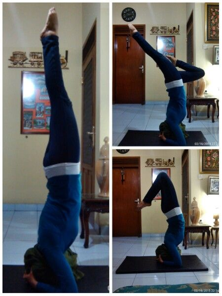 Period day 1 = keep practicing my #SupportedHeadstand  #Namaste #YogaPractice #BodyBalance #CoreStrength
