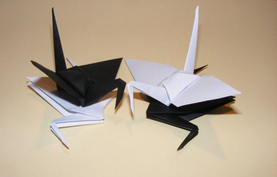 Origami wedding crane paper origami crane by Handmadegiftbox