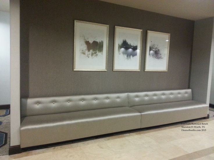 Low Back Wall Bench Located At The Sheraton Downtown Ft Worth TX