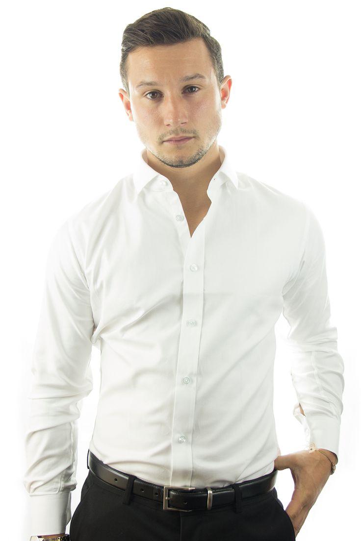 Herringbone White Tailor Made Shirt