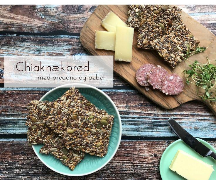 Chiaknækbrød med oregano og peber - opskrift på glutenfrie og low carb knækbrød uden æg