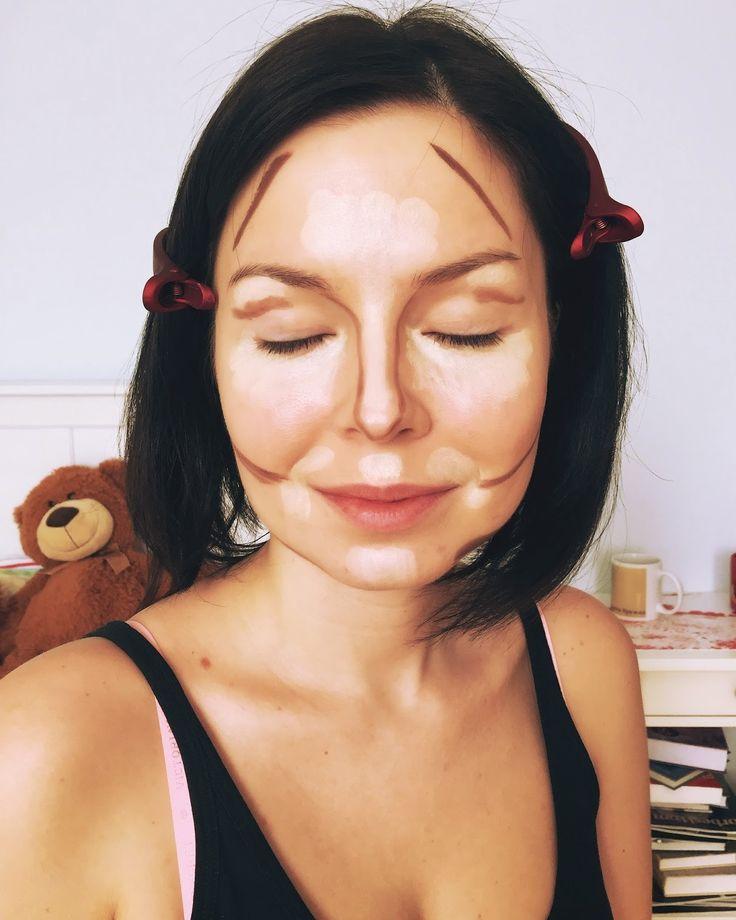 Блог и макияж Красота Madness: Контурная для круглого лица (Моника Беллуччи макияж)