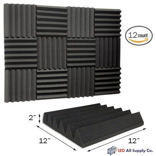 12 pk 2x12x12 foam acoustic tiles studio foam sound wedges
