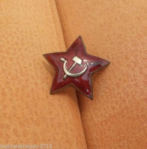RUSSIAN-SOVIET-USSR-MVD-KGB-SECRET-POLICE-UNIFORM-RED-STAR-BADGE-HAT-CAP