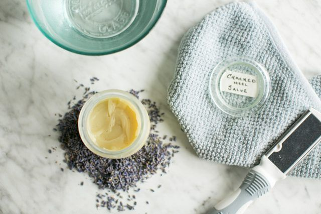 Give tired, sore feet a treat and lather on this DIY soothing balm to heal cracked heels overnight.
