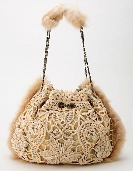 Romanian Point Lace bag