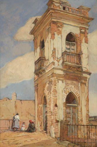 Léonie Matthis, Mirador de la casa Stegman - Mirador de Avellaneda (c. 1925) | Museo Histórico Brigadier General Cornelio de Saavedra