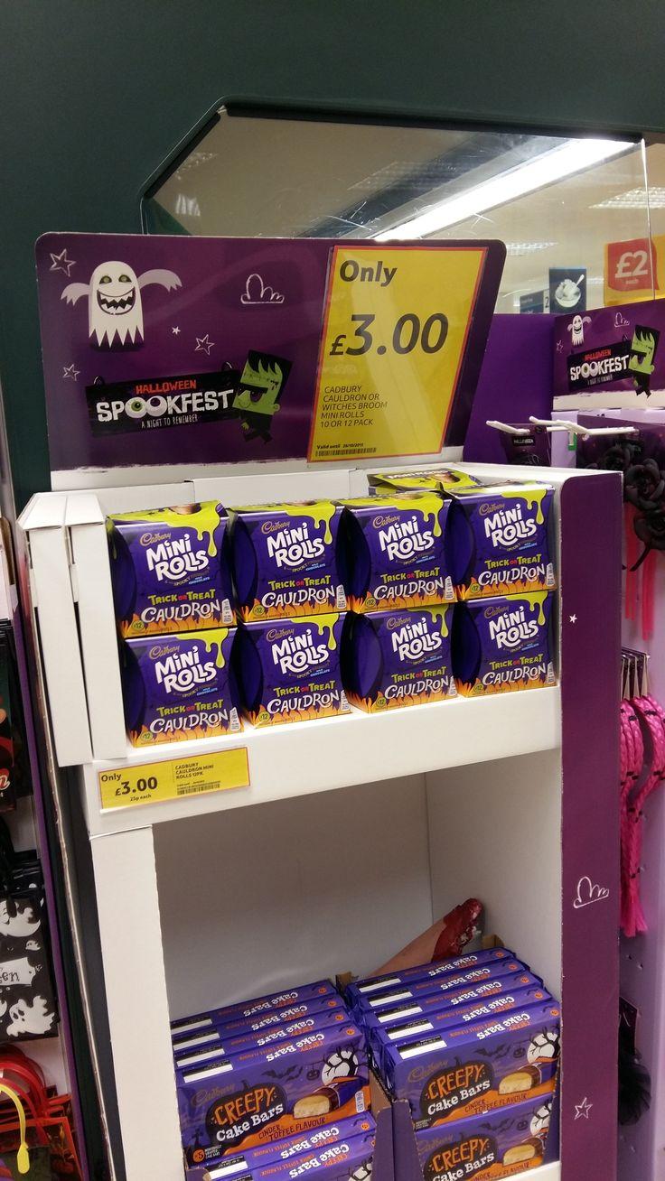 Halloween Cake Decorations Tesco : Halloween 2015 - Tesco Spookfest Cadbury Mini Rolls ...