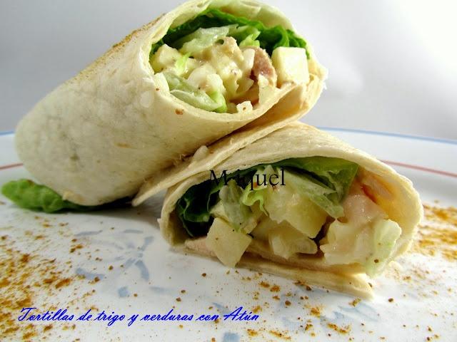 Les receptes del Miquel: Tortillas de trigo con verduras y atún