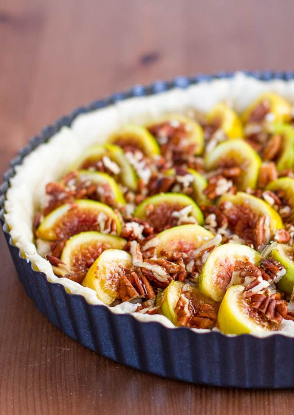 fig tart with pecans and goat cheese fig tart goat cheese recipes ...