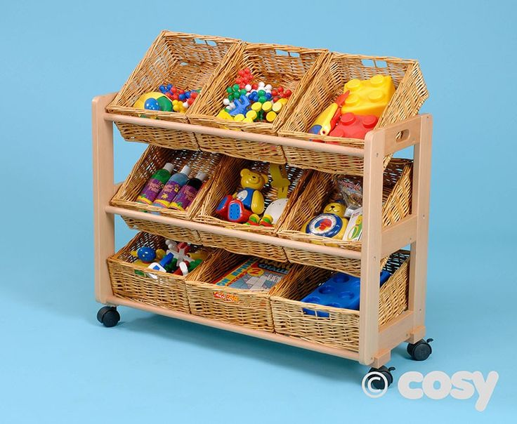 SINGLE CLASSROOM TIDY WITH 9 WICKER BASKETS - Enabling Environments - Cosy Direct
