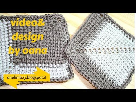 Crochet - Tunisian crochet - Square Tunisian knitting motifs. Discussion on LiveInternet - Russian Service Online Diaries