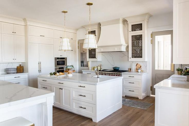 A white and gray French hood painted in Sherwin Williams ...
