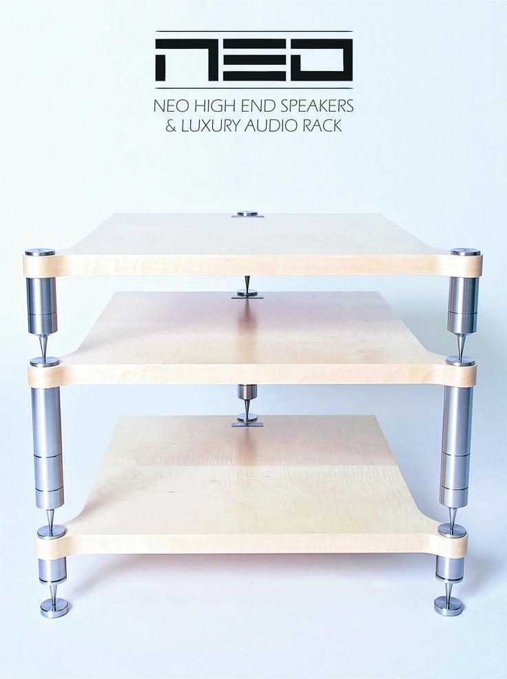 Audio rack NEO Tripod #neohighend #alpha #tripod #doubletripod #quattron #highendspeakers #luxuryaudiorack #accuton