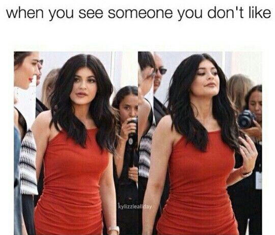 Kylie Jenner meme gives an attitude