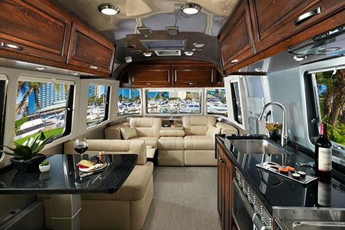 Find the perfect interior decor for the 2017 Land Yacht travel trailer, from Airstream. Go to Airstream.com to view your interior options.
