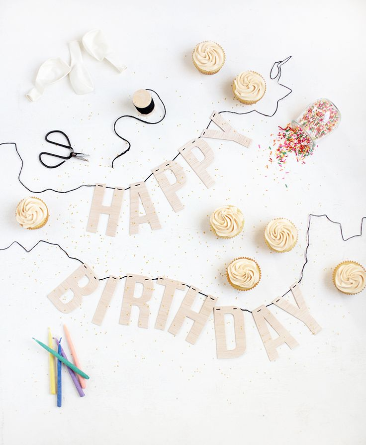 DIY Wood Letter Birthday Garland @themerrythought
