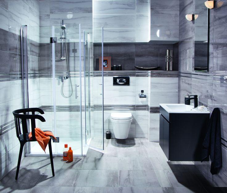 Aranżacja łazienki w odcieniach szarości doda elegancji temu niepozornemu wnętrzu #lazienka #bathroom #bathroomdesign  #interiordesign  #style  #inspiration #wnętrza #elegant  #obipolska #obibowarto #pomysł