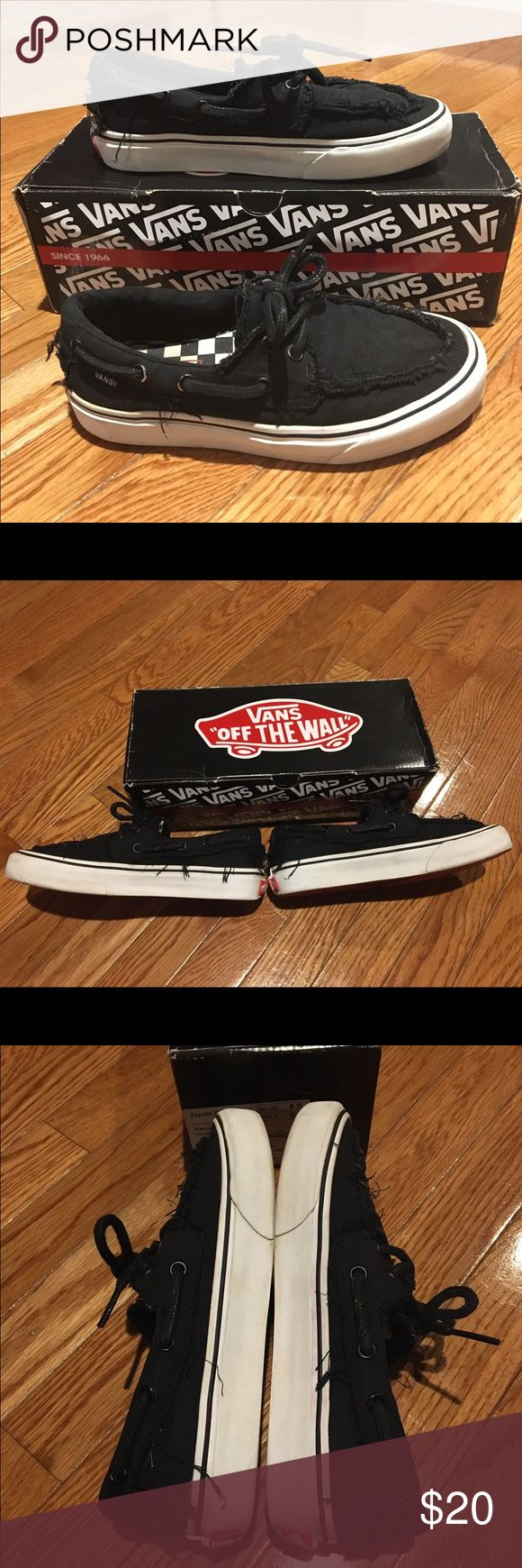 Vans Zapato Del Barco Black 6.5 Vans Zapato Del Barco in Black, women's size 6.5. Previously worn. Comes with original box. Vans Shoes Sneakers