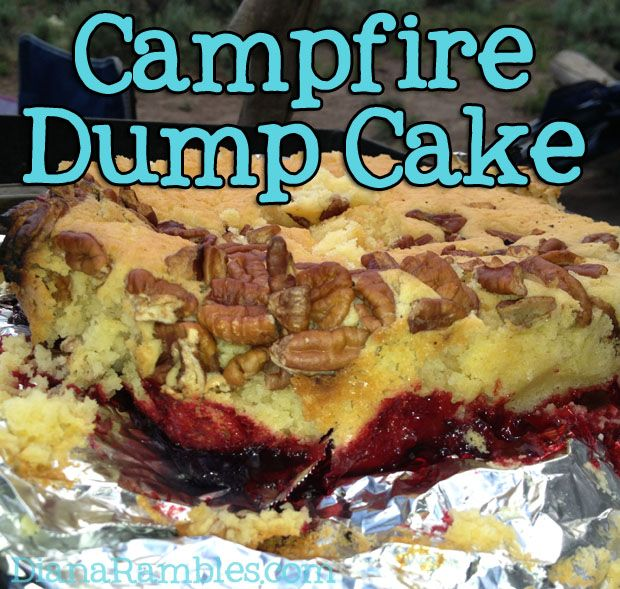 Campfire Dutch Oven Dump Cake Recipe is a dutch oven favorite dessert! Just dump it all in and enjoy!!