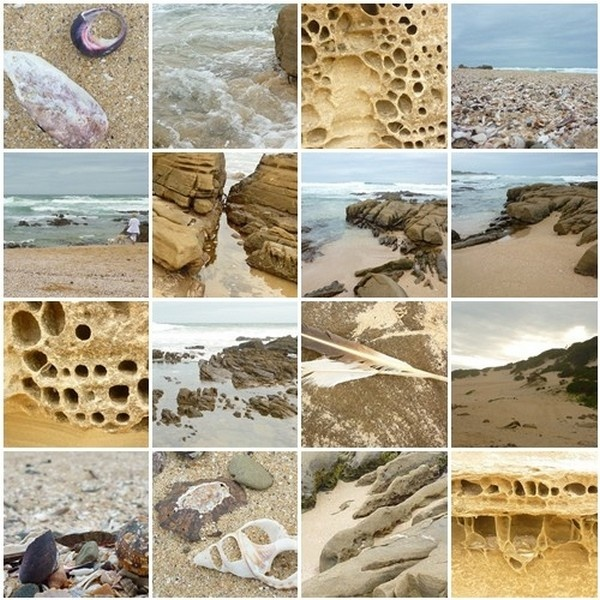 """Kaysers Beach, East London, South Africa.  Photo collage:  ©Susan Smith. From Poetry blog: """"as die son stilstaan"""" at: http://susansmithdotcom.wordpress.com/."""