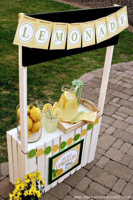 Diy Tutorial Crate Lemonade Stand For Kids