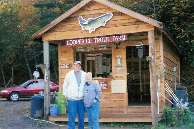 Cooper Creek Trout Farm and Pond Home Trout farm