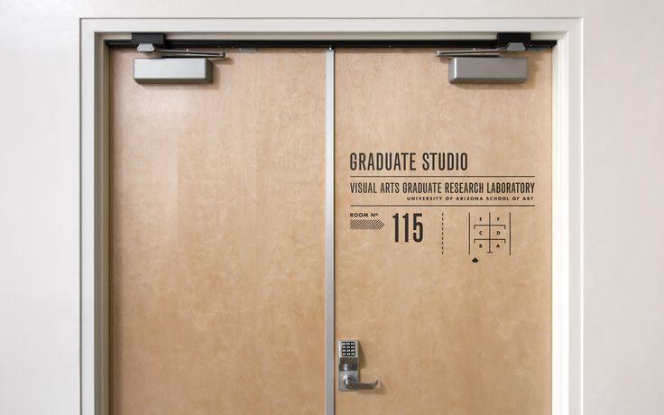 University of Arizona - Wayfinding graphics
