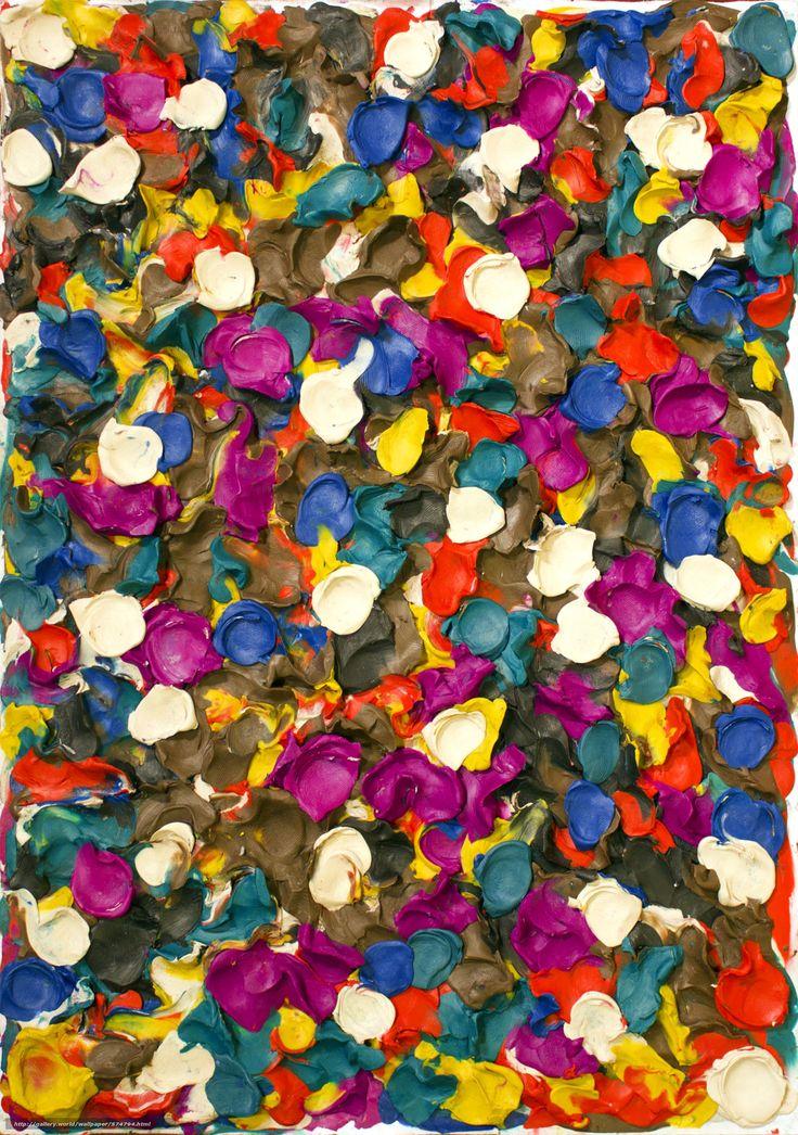 Отпечатки пальцев, пластилин, пластилинер, пластилиновая живопись, пластилиновое искусство