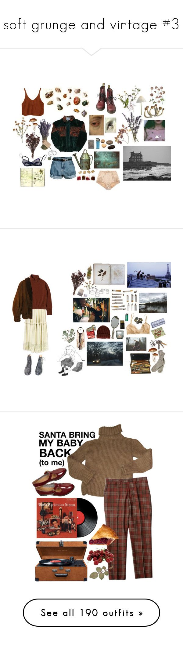 """""""soft grunge and vintage #3"""" by dreamingsock ❤ liked on Polyvore featuring PLANT, Dolce&Gabbana, Olive, Zippo, Retrò, Moleskine, The Lake & Stars, Lanvin, Zoot and INDIE HAIR"""