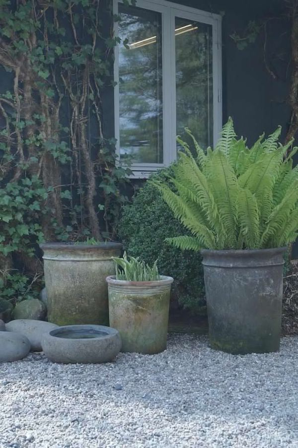 Blandede havekrukker i samme nuancer