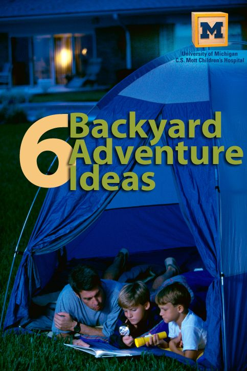 Camp Out in your backyard: 6 outdoor activity ideas to spice up your family summer! Check out MottBlog.org for more kid activity ideas and fun outdoor games!